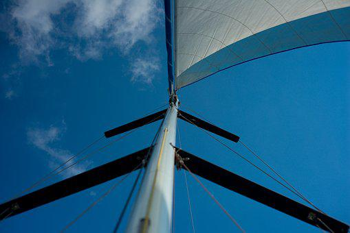 Sail, Sky, Sea, Clouds, Blue, Boat, Water, Lake