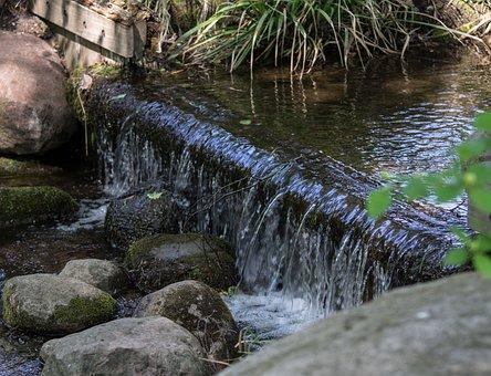 Waterfall, Bach, Nature, Landscape, Rock, Creek, Scenic