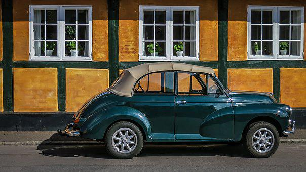 Oldtimer, Folding Roof, Morris Minor 1000, Auto, Truss