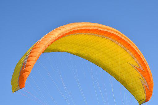 Paragliding, Sailing, Wing, Wind
