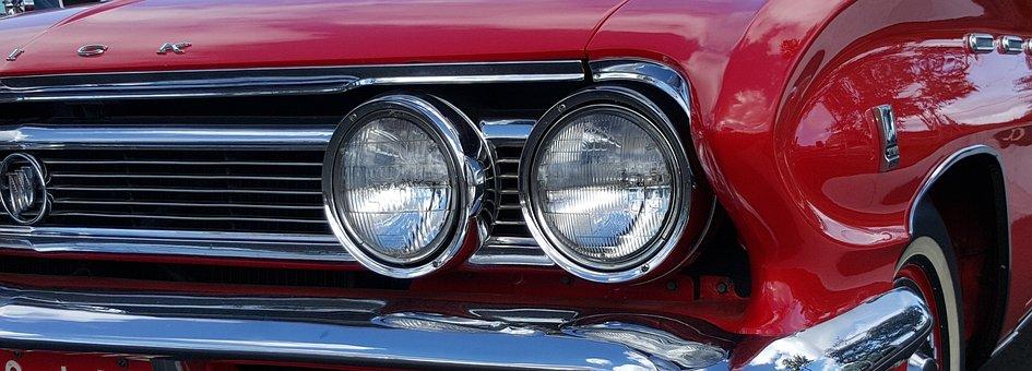 Car, Classic, Vintage, Retro, Automotive, 1950s, Auto