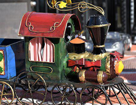 Toys, Locomotive, Antique, Children, Railway, Train