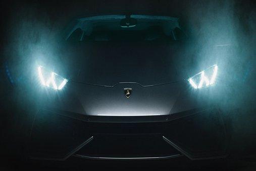 Car, Lamborghini, Black, Transportation, Auto