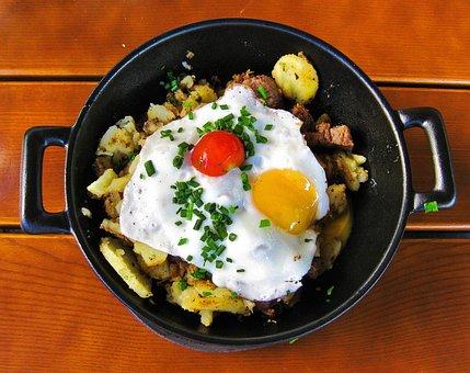 Egg, Fried, Yolk, Food, Breakfast, Delicious, Morning