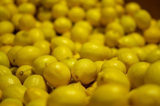 Lemons, Market, Yellow, Close Up, Fruit, Colorful