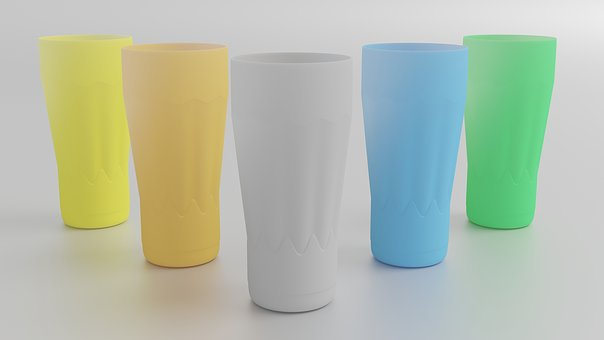 Glass, Colorful, Plastic, Drink, Color, Design