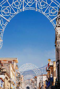Decoration In The Town, Town In Italy, Etna, Volcano