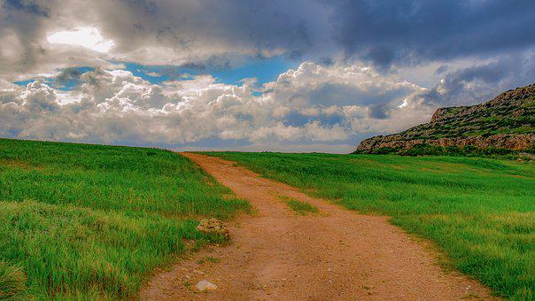 Path, Landscape, Nature, Scenery, Dirt Road, Spring