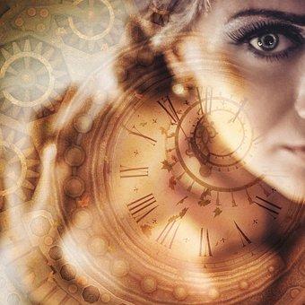 Woman, Time, Clock, Mystery, Sad, Fantasy, Steampunk