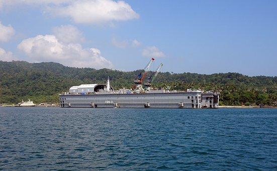 Filoating Dock, North Bay, Andaman Sea, Landscape