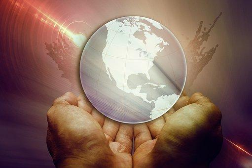 Earth, Hands, Global, Globe, Hand, Keep, Forward