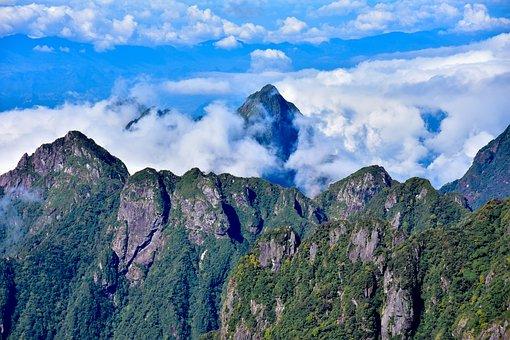 Cloud, Mount Peak, Peak, Mountain, Landscape, Mount