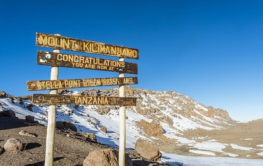 Stella Point, Kilimanjaro, Glacier, Mountain