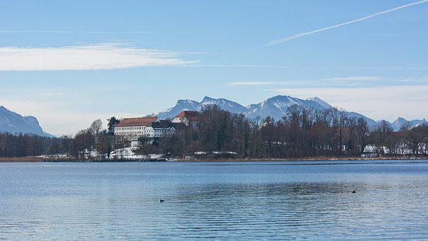 Landscape, Upper Bavaria, Chiemsee, Lake, Mr Island