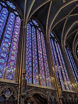 Paris, France, Sainte-chapelle, Stained Glass, Colors
