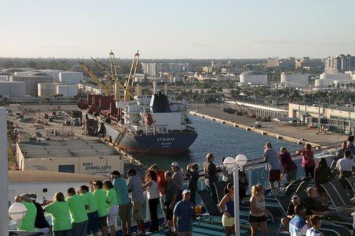 Fort Lauderdale, Port, Ship, Dock, Vessel