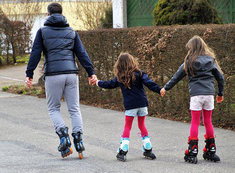 Roller Skates, Can, Total, Relaxation, Fun, Dad