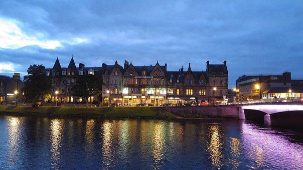Scotland, Inverness, River, Bridge, Scottish