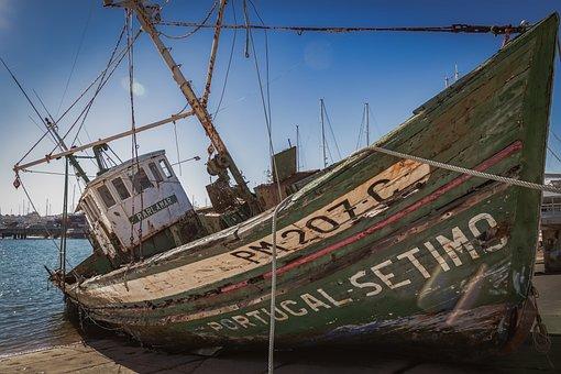 Ship, Wreck, Shipwreck, Fisher, Boat, Stranded