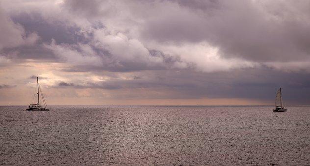 Sea, Sky, Clouds, Ship, Atmospheric, Water, Ocean, Boat