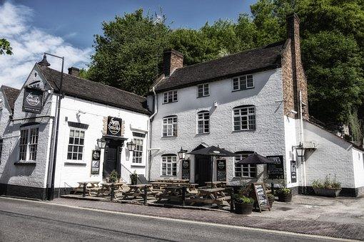 Ironbridge, Shropshire, Telford, England, Pub, The Swan