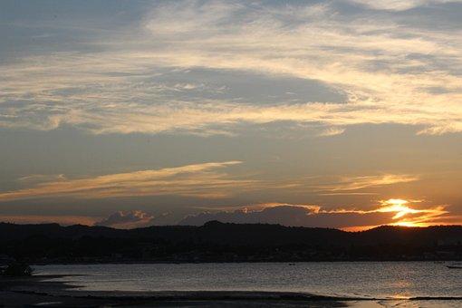 Sun, Sea, Twilight, Nature, Clouds, Sky, Landscape