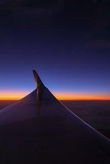 Flight, Night, Sky, Sunrise, Night Sky, Wing, Star