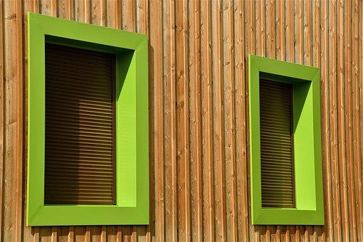 Building, Window, Structure, Wood, Green, Facade