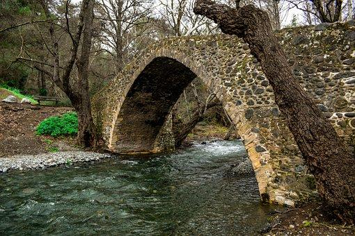Bridge, Stone, Old, Architecture, River, Stones, Trees