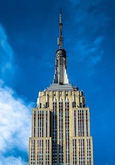 New York, Empire, Manhattan, Skyline, America, Usa