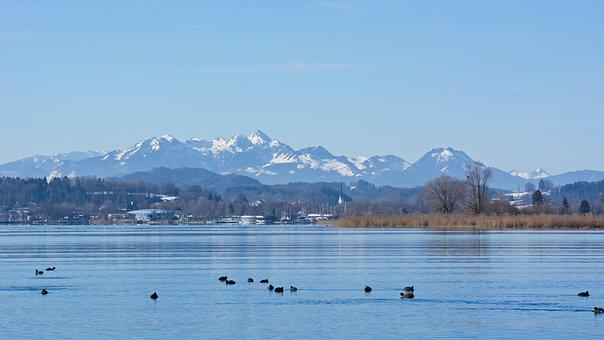 Landscape, Upper Bavaria, Chiemsee, Lake, Nature, Water