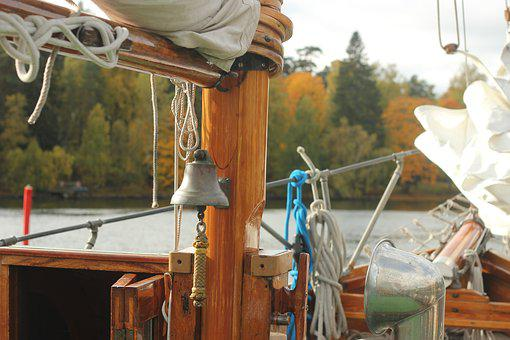 Sailing Boat, Ships Bell, Wooden Boat, Sailboat