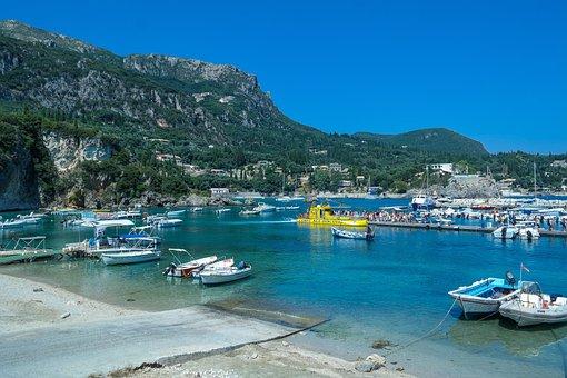 Sea, Water, Bay, Boats, Boat Harbour, Marina, Corfu