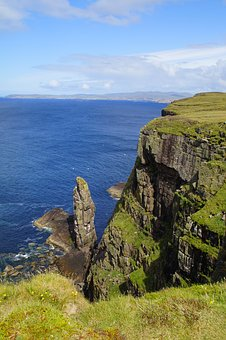Coast, Scotland, Rock Nose, Pinnacle, Rock, Cliff, Sea