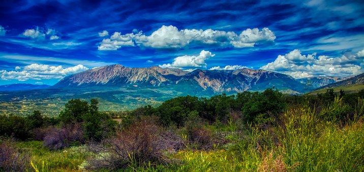 Colorado, Rocky Mountains, America, Panorama, Mood, Sky