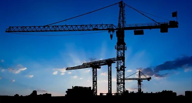 Industry, Crane, Construction, Building, Industrial