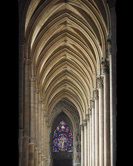 Reims, Cathedral, Vaults, Gothic, Interior, Religion