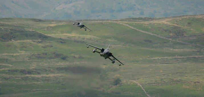 Planes, Low Level, Mach Loop, Hills, Training, Speed