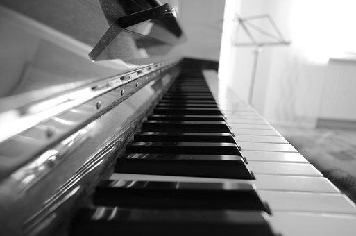 Piano, Keyboard, Music, Instrument, Black, White, Keys
