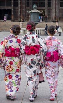 Japan, Nara, Kimonos, Japanese, Temple, Tradition