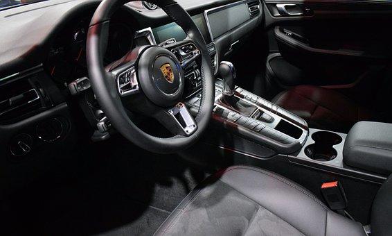 Car, Vehicle, Leather, Banks, Steering Wheel, Panel