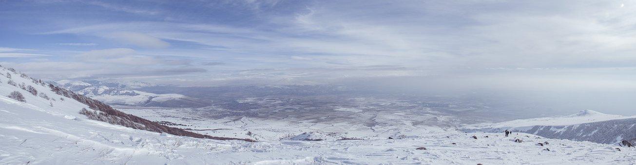 Winter, Mountain, Panorama, Landscape, Mountains