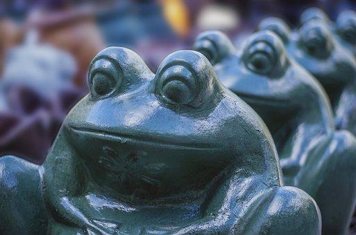 Frog, Ornament, Decor, Ceramic, Garden, Decoration