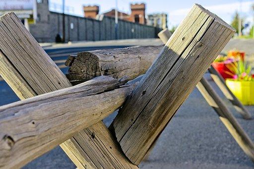 Rail, Post, Fence, Barrier, Wood, Deer Lodge, Montana