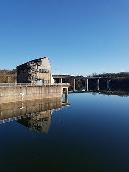 Dam, Wupper-dam, Wupper, Reservoir, Lake, Water