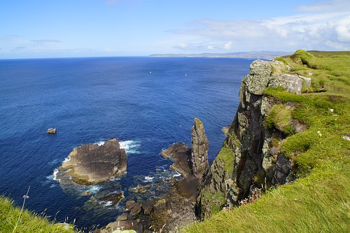 Coast, Scotland, Handa Island, Sea, Rocky Coast, Cliff