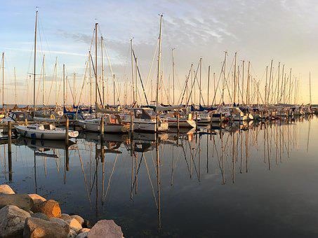 Marina, Yacht, Sailing Boats, Sailing Boat, Sea