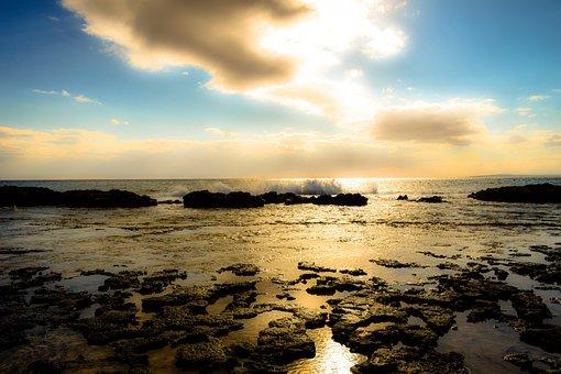 Sea, Sky, Clouds, Nature, Evening, Ocean, Sunlight