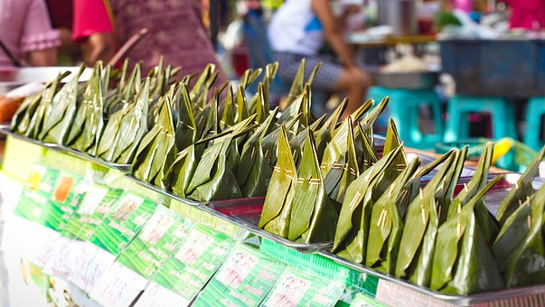 Cake, Food, Sell, Thailand, Thai, Street, Traditional