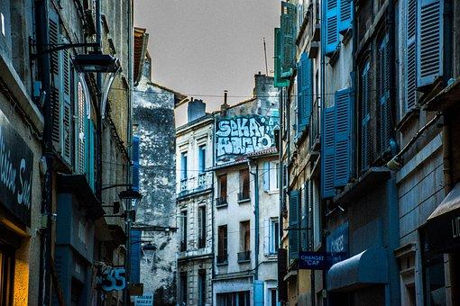 Street Scene, Bouches-du-rhône, Europe, France, Alley